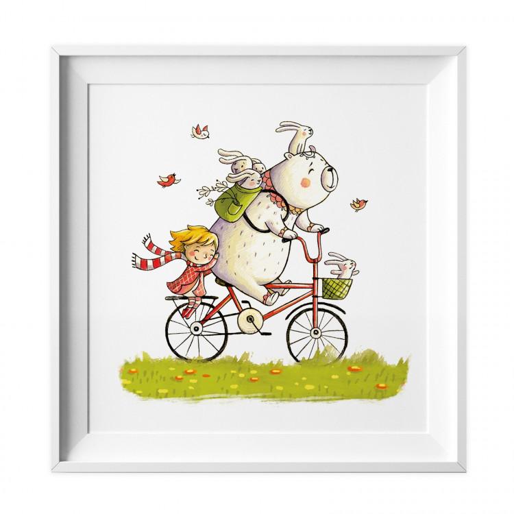 026 kinderzimmer bild fahrrad poster plakat. Black Bedroom Furniture Sets. Home Design Ideas