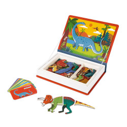 JANOD Magnetbuch Dinosaurier, 40 Magnete