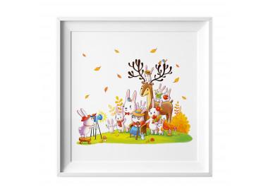 029 Kinderzimmer Bild Tiere Foto Poster Plakat