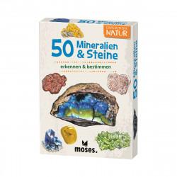 MOSES Kartenspiel- Expedition Natur - 50 Mineralien & Steine