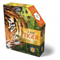 MADDCAPP Puzzle Tiger 300 Teile Konturpuzzle