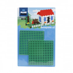 PLUS-PLUS 2 Steckplatten grün 12x12