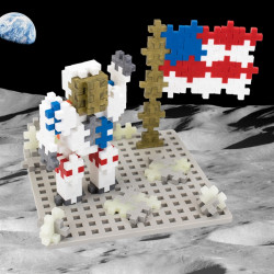 PLUS-PLUS 70 Kreativ Baustein Weltraum + 1 Bodenplatte