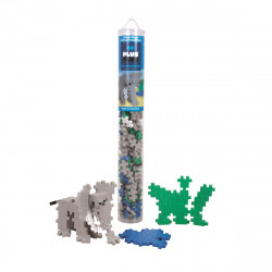 PLUS-PLUS 100 Kreativ Bausteine Elefant Tube