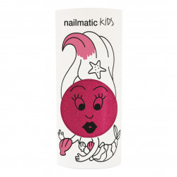NAILMATIC KIDS - Kinder Nagellack Sissi Pink Glitzer, 8 ml