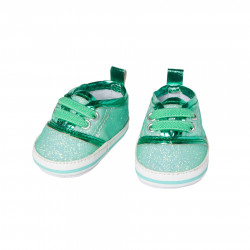 HELESS Glitzer-Sneakers mint Gr. 38-45 cm Puppenkleidung
