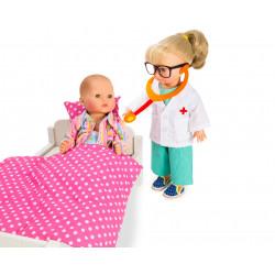 HELESS Arzt-Outfit mit Stethoskop Gr. 35-45 cm für Puppen SPIELGUT