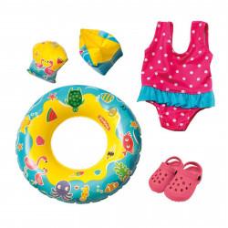 HELESS Puppen Badeanzug, Clogs, Schwimmring und -flügel  Gr. 35-45 cm