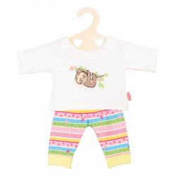 """HELESS Puppen Pyjama """"Faultier Flauschi"""" Gr. 35-45 cm SPIELGUT"""