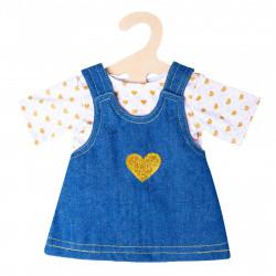 "HELESS Puppen Jeanskleid ""Goldstück"" mit T-Shirt Gr. 35-45 cm"