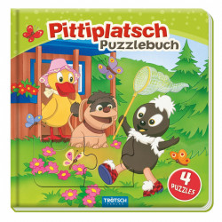 TRÖTSCH Unser Sandmännchen Puzzlebuch Pittiplatsch 10 Seiten