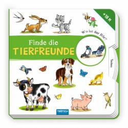 TRÖTSCH Drehscheibenbuch Finde die Tierfreunde 8 Seiten