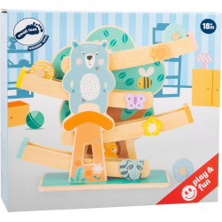 SMALL FOOT Holz Kugelbahn Pastell Waldtiere ab 18 Monate