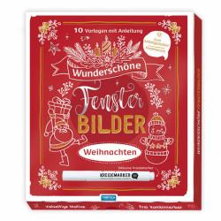 TRÖTSCH Fensterbilder Weihnachten 10 Vorlagen mit Kreidemarker