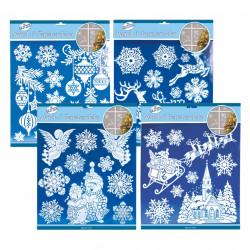 TRÖTSCH XL Wand- & Fensterdeko Weihnachten 4 Motive mit Glitzer