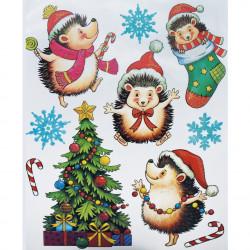TRÖTSCH Weihnachts-Fensterbild Igelfreunde