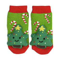 MOSES Rasselsöckchen Weihnachtsfreunde Babysocken aus Baumwolle