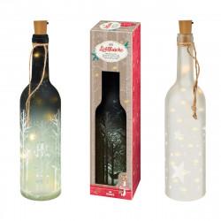 MOSES Lichtflasche aus Glas mit LEDs im Korken in einer Geschenkbox