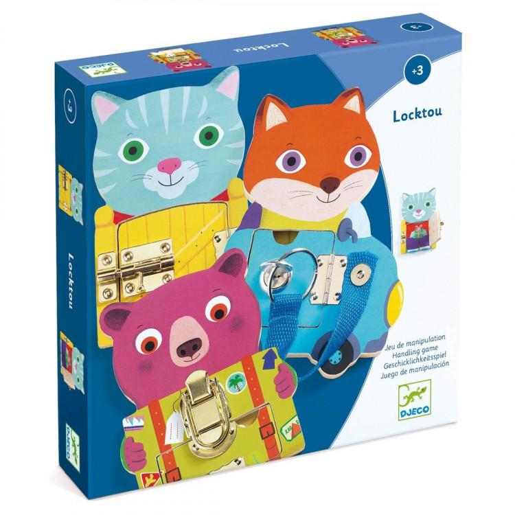 DJECO Lernspielzeug Locktou vers. Verschlüse ab 3 Jahren