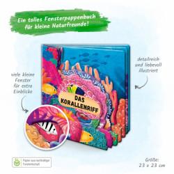 TRÖTSCH Fensterbuch Das Korallenriff 12 Seiten Pappbuch