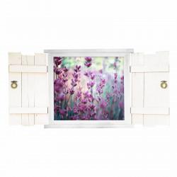 31 Wandtattoo Lavendel im Fenster mit Fensterläden
