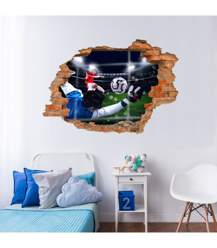 033 wandtattoo tor fussball loch in der wand. Black Bedroom Furniture Sets. Home Design Ideas