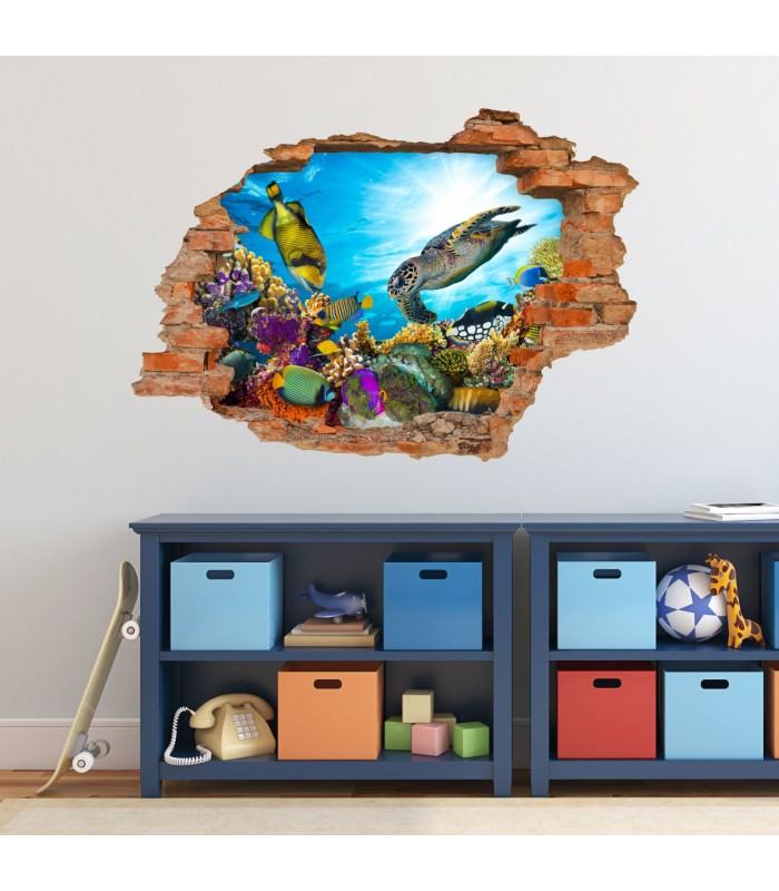 High Quality 035 Wandtattoo Unterwasserwelt   Loch In Der Wand
