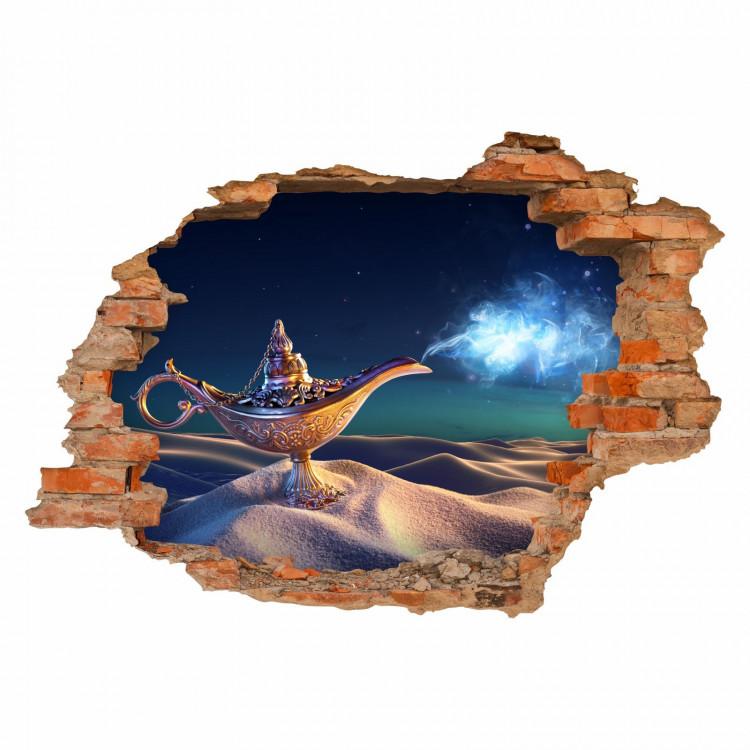 037 Wandtattoo Lampe - Loch in der Wand - 1000 und eine Nacht Orient Sahara Wüste
