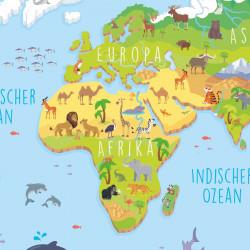 bezaubernde Kinder Weltkarte 3D