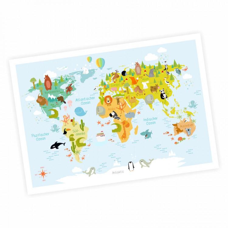 bezaubernde Kinder Weltkarte modern