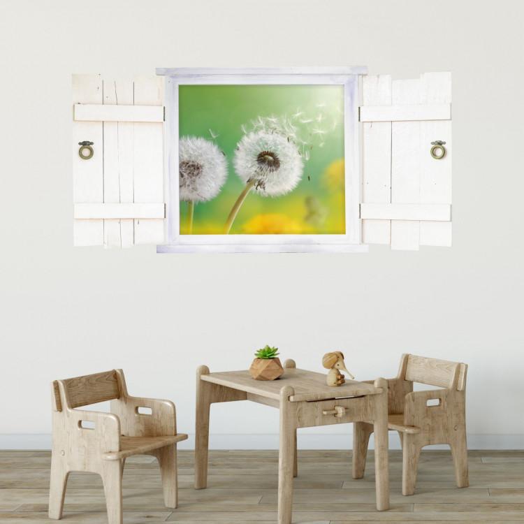 043 wandtattoo pusteblume im fenster mit fensterl den. Black Bedroom Furniture Sets. Home Design Ideas