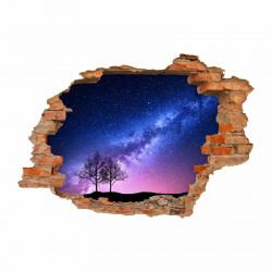 053 Wandtattoo Milchstraße - Loch in der Wand - Weltall Milky Way Sterne