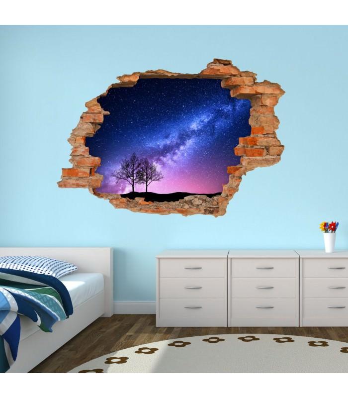 053 wandtattoo milchstra e loch in der wand weltall milky way. Black Bedroom Furniture Sets. Home Design Ideas
