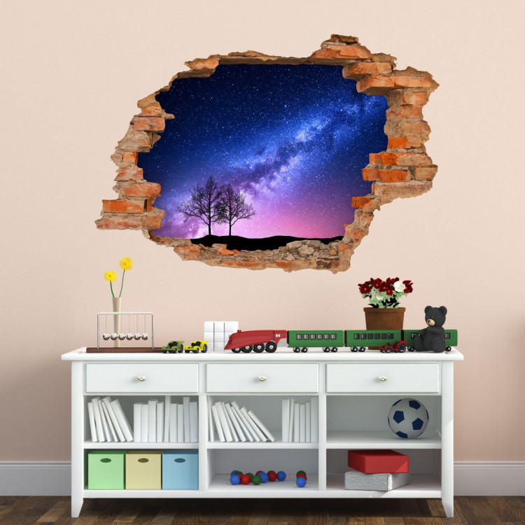 053 wandtattoo milchstra e loch in der wand weltall milky way. Black Bedroom Furniture Sets. Home Design Ideas