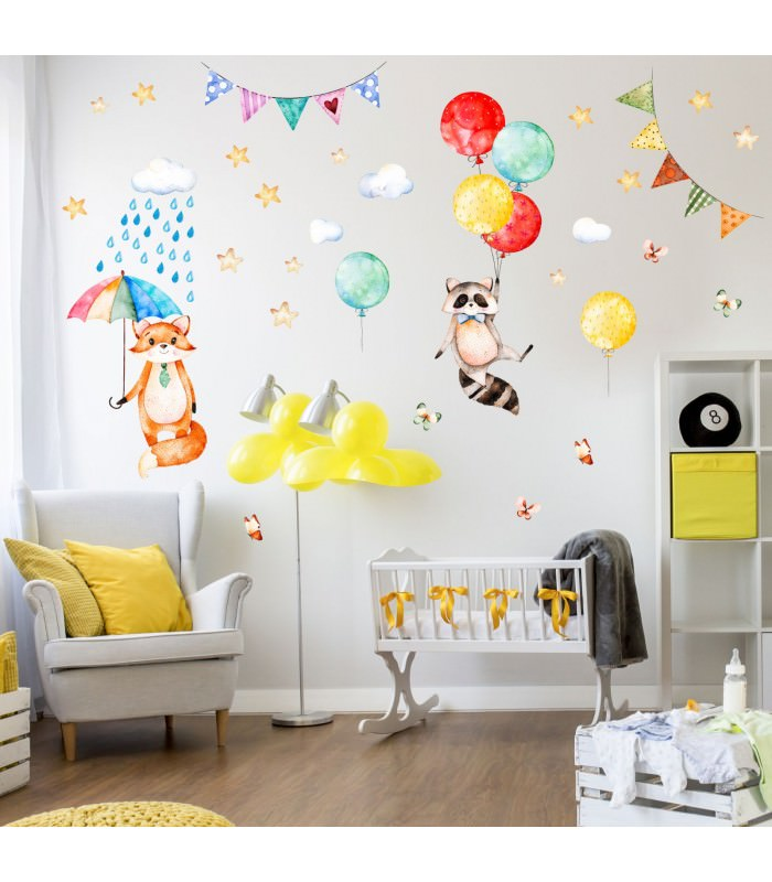 wandtattoo kinderzimmer luftballons reuniecollegenoetsele. Black Bedroom Furniture Sets. Home Design Ideas
