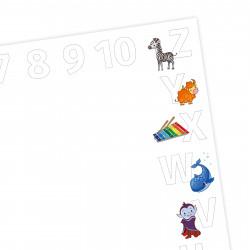 A2 Schreibtischunterlage Alphabet + Zahlen