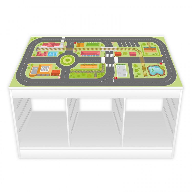 Spielfolie/ Möbelfolie für IKEA TROFAST Stadtleben Aufkleber Sticker Kinderzimmer Spieltisch (Möbel nicht inklusive)
