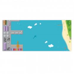 nikima - Spielfolie/ Möbelfolie für IKEA TROFAST Hafen Wasserwelt Aufkleber Kinderzimmer Spieltisch (Möbel nicht inklusive)