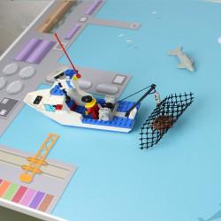 Spielfolie/ Möbelfolie für IKEA TROFAST Hafen Wasserwelt Aufkleber Kinderzimmer Spieltisch (Möbel nicht inklusive)