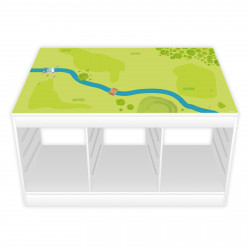 nikima - Spielfolie/ Möbelfolie für IKEA TROFAST Wald & Wiese Aufkleber Sticker Kinderzimmer Spieltisch (Möbel nicht inklusive)