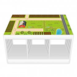 nikima - Spielfolie/ Möbelfolie für IKEA TROFAST Bauernhof Aufkleber Sticker Kinderzimmer Spieltisch (Möbel nicht inklusive)