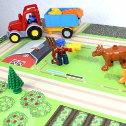 Spielfolie/ Möbelfolie für IKEA TROFAST Bauernhof Aufkleber Sticker Kinderzimmer Spieltisch (Möbel nicht inklusive)