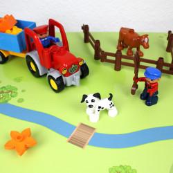nikima - Spielfolie/ Möbelfolie für IKEA LÄTT Spieltisch Wald & Wiese Aufkleber Sticker Kinderzimmer (Möbel nicht inklusive)