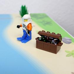 nikima - Spielfolie/ Möbelfolie für IKEA LÄTT Spieltisch Hafen Wasserwelt Aufkleber Kinderzimmer (Möbel nicht inklusive)