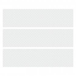 nikima - 005 Möbelfolie für IKEA MALM - Floral Grau Kreise - 3 Schubladen Aufkleber Sticker Klebefolie  (Möbel nicht inklusive)