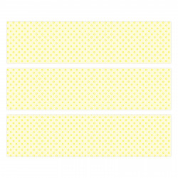 nikima - 006 Möbelfolie für IKEA MALM - gelb Kreise  - 3 Schubladen Aufkleber Sticker Klebefolie  (Möbel nicht inklusive)
