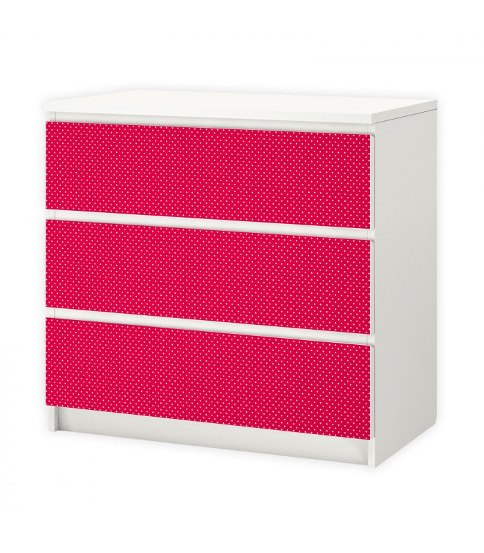nikima 009 m belfolie f r ikea malm punkte rot wei. Black Bedroom Furniture Sets. Home Design Ideas