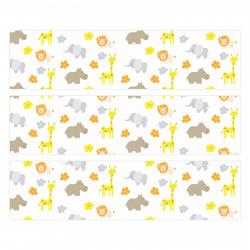 nikima - 010 Möbelfolie für IKEA MALM - Giraffe Elefant - 3 Schubladen Aufkleber Sticker Klebefolie  (Möbel nicht inklusive)