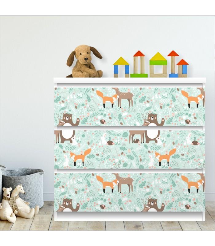 Ikea Klebefolie nikima 011 möbelfolie für ikea malm waldtiere