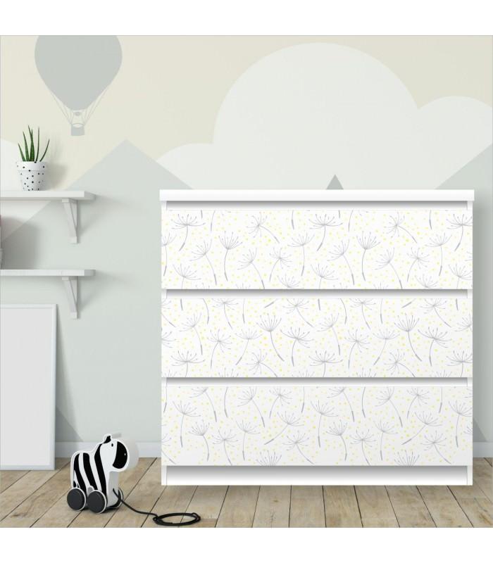 nikima 013 m belfolie f r ikea malm pusteblume. Black Bedroom Furniture Sets. Home Design Ideas